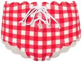 Marysia Swim Riviera gingham bikini bottoms