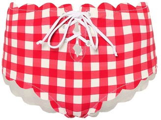 Marysia Swim Riviera gingham bikini bottoms