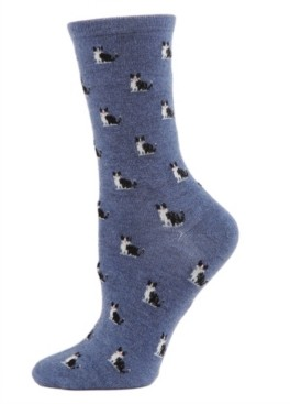 Me Moi Kitties Cashmere Women's Crew Socks