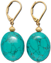 Lauren Ralph Lauren Gold-Tone Stone Drop Earrings
