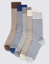 Marks and Spencer 5 Pairs of Cool & FreshfeetTM Cushioned Sole Socks