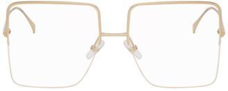Fendi Gold Large Square Glasses