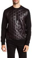Karl Lagerfeld Quilted Front Pullover
