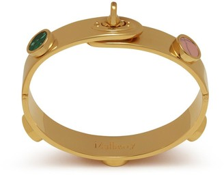 Mulberry Bayswater Thin Bracelet Gold and Multicolour Brass, Synthetic Pearl and Strass