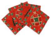Sudha Pennathur Beaded Velvet Coaster Set