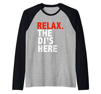 Jockey Funny Relax the DJ's Here Disc Turntable Music Gift Raglan Baseball Tee