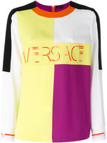 Versace block panel top - women - Acetate/Viscose - 40