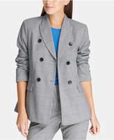 Dkny Plaid Double-Breasted Jacket