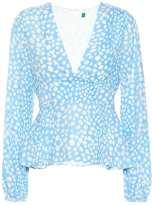 Rixo Kikki leopard-print blouse