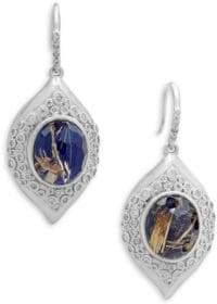 Armenta New World Doublet & Champagne Diamond Marquis Drop Earrings