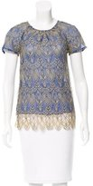 Peter Som Short Sleeve Lace Top