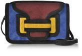 Pierre Hardy Color Block Suede Alpha Crossbody Clutch