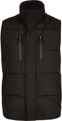 River Island Mens Big and Tall Black padded zip gilet