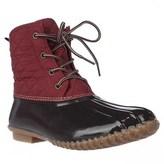 Jambu Jbu By Stefani Mid-calf Rain Boots, Brown/red.