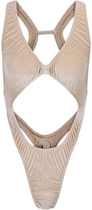 SKIMS Stretch Velvet Cut Out Bodysuit