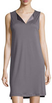 Hanro Adriana Tank Nightgown, Warm Gray