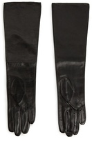 MANGO Leather Long Gloves