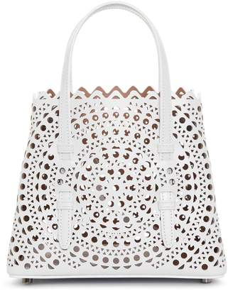 Alaia Mina Mini New Vienne white tote