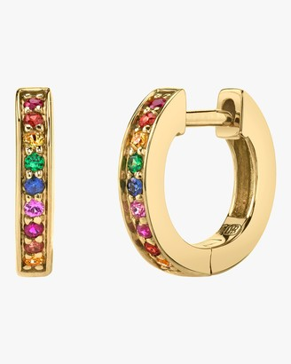 Sydney Evan Rainbow Huggie Hoop Earrings