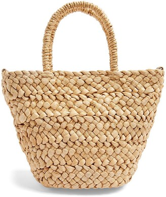 Topshop Rhodes Mini Straw Tote Bag
