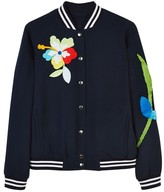 Mira Mikati Sequin Patch and Embroidered Bomber Jacket