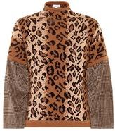 Loewe Leopard print wool-blend sweater