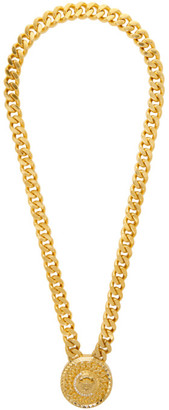 Versace Gold Crystal Medusa Necklace