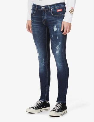 Inside Out Denim Paint Splash V.2 slim-fit jeans