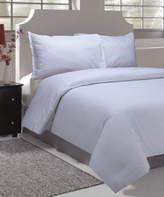 Natural Comfort White Sausalito Nights Microfiber Embossed Duvet Cover Set
