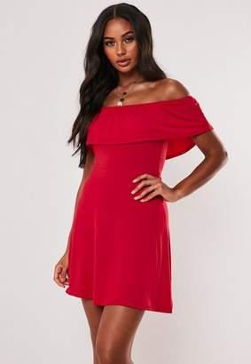 Missguided Bardot Overlay Mini Dress