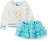 Children's Apparel Network Frozen Long-Sleeve Top & Ruffle Skort - Toddler