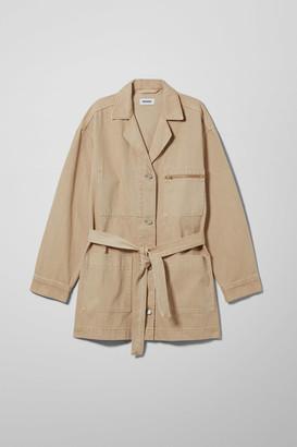 Weekday Cruz Denim Jacket - Beige