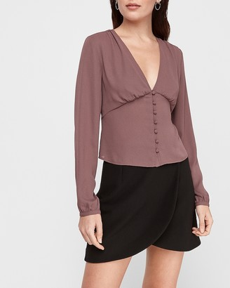 Express Deep V-Neck Empire Waist Top