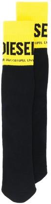 Diesel Logo Mid-Calf Socks