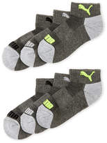 Puma Boys 4-7) 6-Pack Quarter Cut Socks