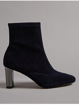 Autograph Suede Side Zip Stretch Feature Ankle Boots