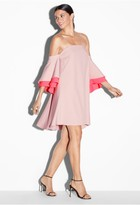 Milly Exclusive Italian Cady Double Flutter Sleeve Dress