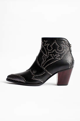 Zadig & Voltaire Cara Studs Ankle Boots