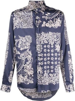 Etro Bandana-Print Long-Sleeved Shirt