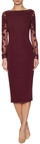 Temperley London Epoque Embroidered Lace Sheath Dress