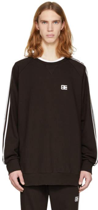 Baja East Black Stripe Sweatshirt