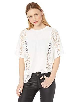 BCBGMAXAZRIA Women's Lace Inset T-Shirt
