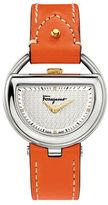 Ferragamo Buckle Diamond Stainless Steel Watch