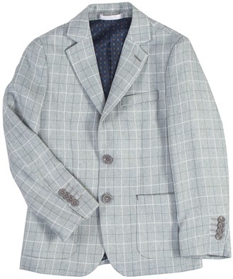 Isaac Mizrahi Multi Check Blazer (Toddler, Little Boys & Big Boys)