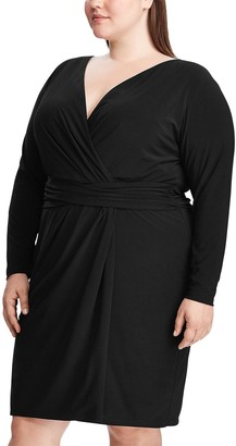 Chaps Plus Size Faux-Wrap Dress