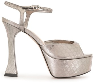 Schutz Platform Metallic Sandals