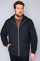 Yours Clothing D555 Navy Cotton Lined Jacket With Hood