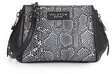 Halston Mosaic Python Embossed Leather Side-Zip Satchel