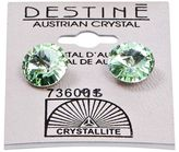 Crystallite Destine Chrysolite Rivoli Earrings