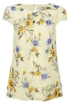 Dorothy Perkins Womens Billie & Blossom Lemon Floral Print Shell Top